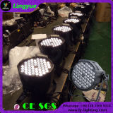 백색 동위는 LED 54X3watt 극장 단계 빛 할 수 있다