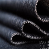 Tessuto cotone/delle lane per il cappotto di inverno o di autunno nel nero