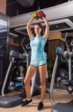 """Sportswear movimentando-se """"sexy"""" do fato de desporto da ginástica da aptidão do corredor de treinamento dos exercícios da mulher"""