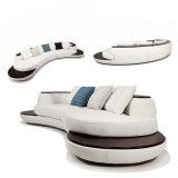 2017 sofás modernos deVenda do couro branco com Chaise (HC1069)