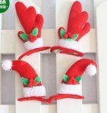 El pelo de las cornamentas de los cequis de la Navidad congriega el tocado del partido del regalo de la Navidad