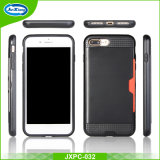 Atacado Escova Escoviva Armadura TPU PC Case para iPhone 7 7 Plus Back Cover