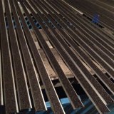 Sospecha de aluminio sacada de la pisada de escalera del carborundo antirresbaladizo