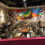 (SP-CS378) Pequeño conjunto de madera moderno comercial del vector del restaurante del café de 2 Seater