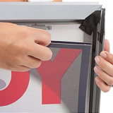 Caixa leve do frame de alumínio com a caixa leve ao ar livre da tela dobro da cópia dos lados
