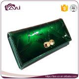 De nieuwe Moderne Portefeuille van het Ontwerp, de Lange In reliëf gemaakte Zak van het Geld, Groen Leer Dame Purse met Uitstekende kwaliteit