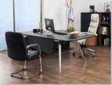 Bureau en bois de bureau en cuir de style nouveau (V18A)