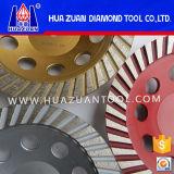 Roda de moedura do copo do diamante de Huazuan Turbo, roda de moedura do diamante para o concreto, mármore
