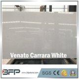 Lastra bianca artificiale della parte superiore della tavola rotonda del quarzo di Venato Carrara