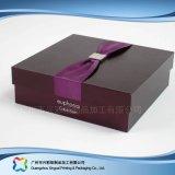 Papkappe u. Unterseiten-Verpackungs-Kleid-Kleidung-Schuh-Kasten (xc-APS-009)