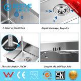 Tecnología Hand-Made cocina de acero inoxidable 304 Sinkbs-7345