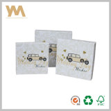 Cadre de papier cosmétique d'emballage d'OEM de cadre de cylindre de cadre de boîte-cadeau blanche