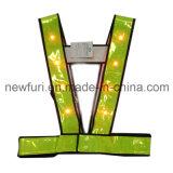En471 Sport Yellow LED Veste de protection réfléchissante à haute visibilité