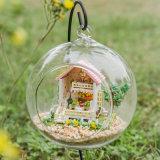 Bonita casa de boneca com bola de vidro Melhor presente de aniversário