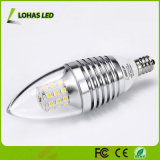 Lumière d'ampoule économiseuse d'énergie de bougie des candélabres DEL d'E12 6W 7W