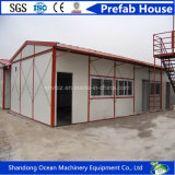 Casa modular de la casa prefabricada prefabricada barata respetuosa del medio ambiente de la casa de los paneles ligeros del material y de emparedado de construcción de la estructura de acero