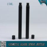 5ml 10ml botella de perfume de 15ml Matte negro vidrio coloreado botella de vidrio frasco de vidrio