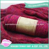 Lãs acrílicas mornas do sustento do inverno que tricotam manualmente o lenço