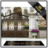 Entrées principales en aluminium de jardin de couleur en métal enduit décoratif de pouvoir