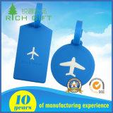 Fabricante Customized Design Logo Etiqueta de bagagem de plástico / PVC macio para titular de saco de nome