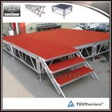 Do estágio de alumínio de madeira de superfície do concerto da plataforma do tapete estágio móvel portátil
