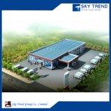 싼 가벼운 건물에 의하여 직류 전기를 통하는 강철 Prefabricated 작업장 구조