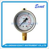 밑바닥 연결 압력 측정하 Polished 케이스 압력 측정하 기름 압력 계기