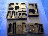 Plateau en PVC noir pour plateau cosmétique Plateau en plastique pour produits de soins de la peau