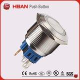 25mmの円LED 12の電圧ステンレス鋼の押しボタンスイッチ
