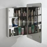 Gabinete europeu 7077 do espelho do banheiro do aço inoxidável do estilo