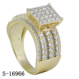 도금되는 14k 금을%s 가진 새로운 도착 형식 보석 다이아몬드 반지