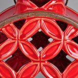 Titular de vela de cerâmica cerâmico aveludado clássico com alça de metal