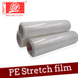 Hot Film 10/12/15/20 / 23mic LLDPE Stretch Film Rolos de polietileno claro e espesso