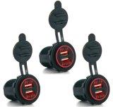 Divisor de socket de mechero 12V Dual de 2 puertos USB Adaptador de alimentación Cargador de coche accesorios de telefonía móvil Yj-Ds2015