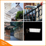 As luzes impermeáveis pstas solares as mais novas da parede da rua ao ar livre da lâmpada da segurança do jardim das lâmpadas de sensor do movimento da luz de rua PIR do diodo emissor de luz 450lm 36