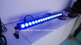 Напольный цвет 18X15W RGBW IP65 изменяя свет шайбы стены СИД