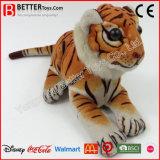 Do tigre realístico Lifelike do luxuoso do animal enchido de ASTM brinquedos macios
