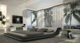 새로운 우아한 디자인 침실을%s 현대 진짜 가죽 침대 (HC561)