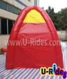 昇進のための赤く膨脹可能なブースのテント