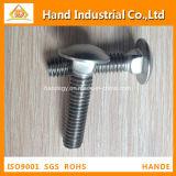 Métrica profesional de acero inoxidable A2 Total de la rosca del tornillo de cuello cuadrado