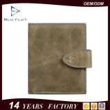 Top Layer Genuine Cowhide Oil Wax Leather Clutch Wallet