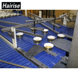 Speed ​​Running Flush Grid Plastic Modular Conveyor com Long Wear