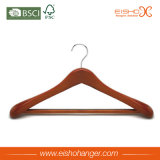 Gancho de roupa de madeira luxuoso de Eisho para a camisa (WL8021)