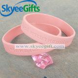 Bracelet fait sur commande de silicones de Debossed pour le cadeau