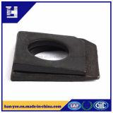 Schwarzes überzog das Quadrat abgeschrägtes Unterlegscheibe gekerbtes Prägen