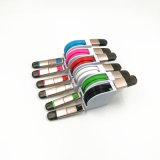 Retractable 2 en 1 cable de datos de carga USB para iPhone6 / 7 Samsung Huawei Oppo Vivo
