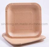 Platos Desechables de papel marrón de artesanía