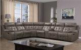 2017 grandes luxuosos novos fizeram sob medida o sofá secional confortável do sofá do Recliner com bege do armazenamento