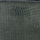 Cuoio sintetico dell'unità di elaborazione del coccodrillo lucido per la borsa
