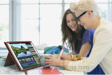 Étui élégant pour ordinateur portable pour iPad Housse en cuir pour ordinateur portable